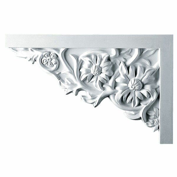 Floral 7 7/8H x 11 3/4W x 3/4D Large Stair Bracket by Ekena Millwork