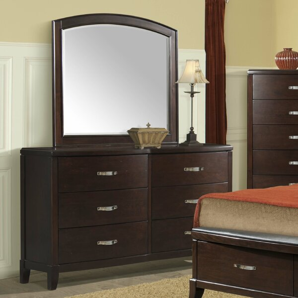 Mcduffie 6 Drawer Double Dresser with Mirror by Darby Home Co