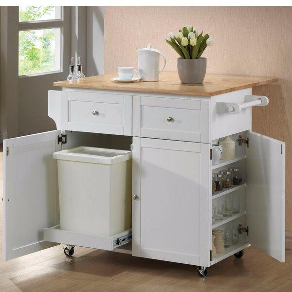 Auton Modish Dual Tone Wooden Kitchen Cart by August Grove