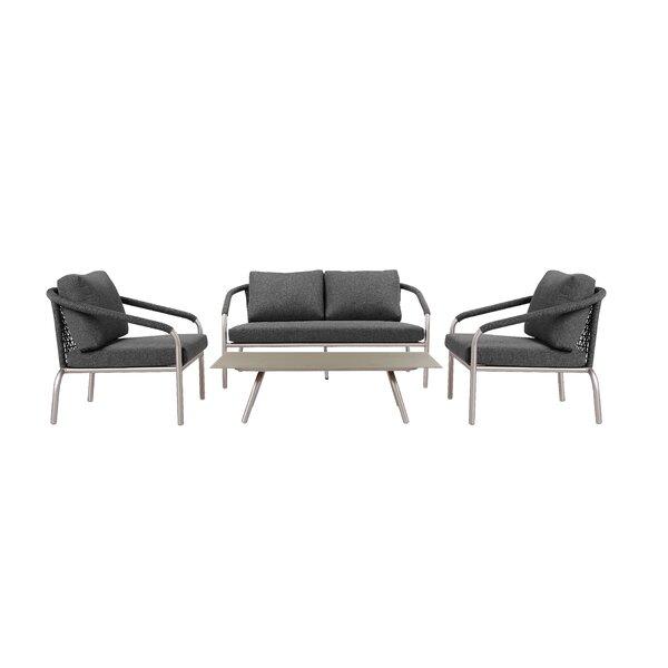 Savitsky 4 Piece Sofa Seating Group with Cushions by Brayden Studio