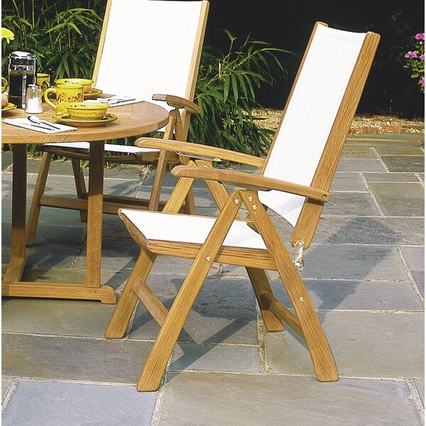 St. Tropez Adjustable Folding Teak Patio Dining Chair by Kingsley Bate