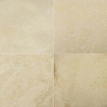 Travertine 12 x 12 Filled and Honed Tile in Ivory Classic by Emser Tile