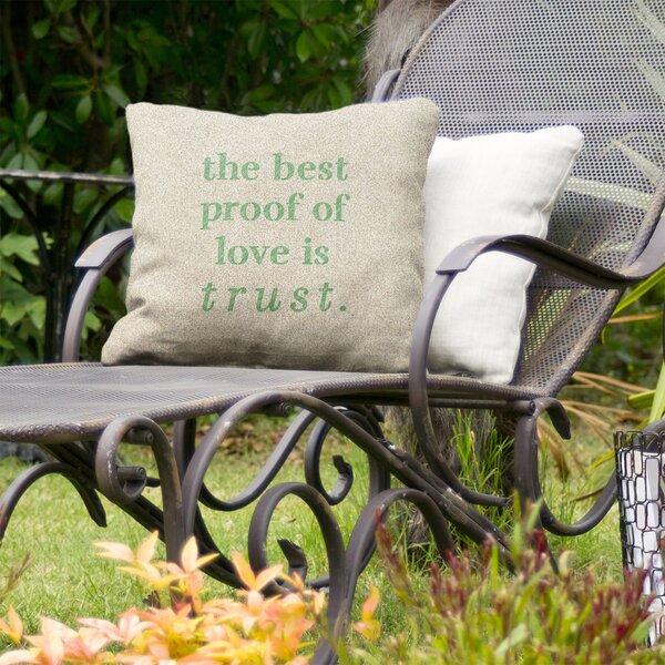 Love and Trust Indoor/Outdoor Throw Pillow