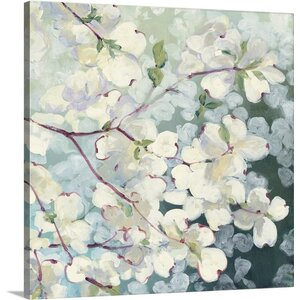 'Magnolia Delight' by Julia Purinton Painting Print on Wrapped Canvas by Great Big Canvas