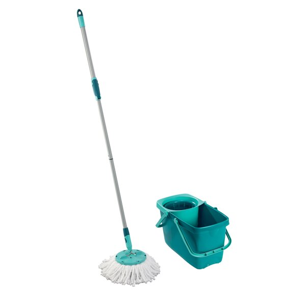 Clean Twist Mop Set with Mop and Spin Bucket by LEIFHEIT