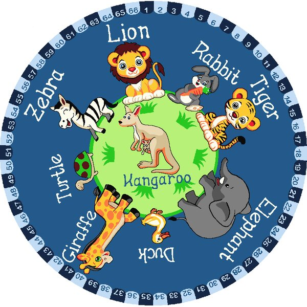 Obi Animal Planet Blue Area Rug by Zoomie Kids