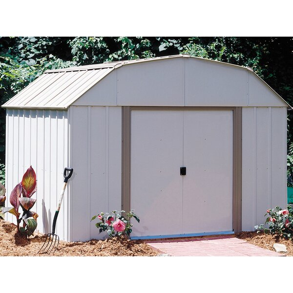 Lexington 10 ft. 3 in. W x 7 ft. 11 in. D Metal Storage Shed by Arrow