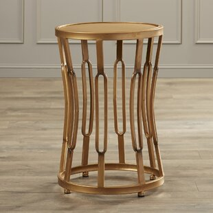 Price Check Valerio Hourglass End Table with Metal Top ByWilla Arlo Interiors