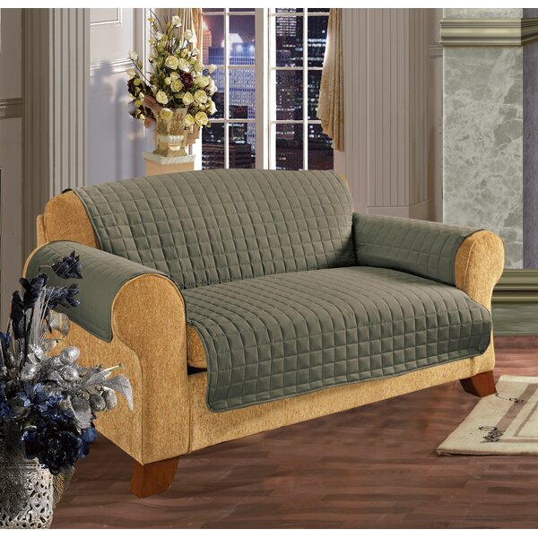 Furniture Protector Box Cushion Loveseat Slipcover by Charlton Home
