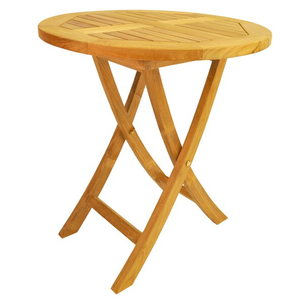 Farnam Folding Teak Bistro Table by Rosecliff Heights