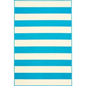 Devonna Stripe Blue/White Indoor/Outdoor Area Rug
