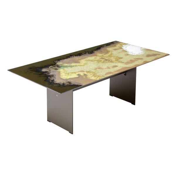Etna Rectangle Diagonal Cut Metal Dining Table by Seasonal Living
