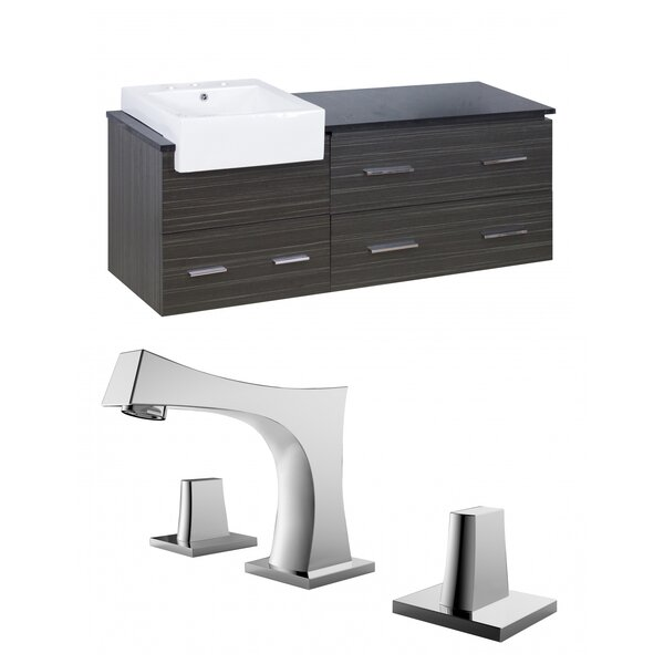 Mulberry 60 Wall-Mounted Single Bathroom Vanity Set by Royal Purple Bath Kitchen