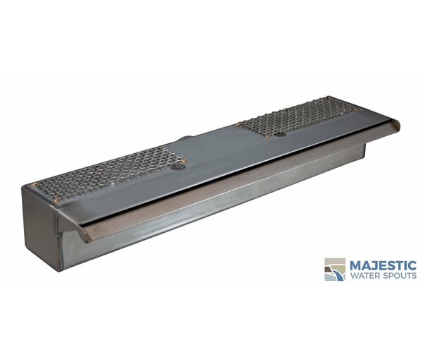 Sutton Stainless Steel Smooth Water Spillway by Majestic Water Spouts