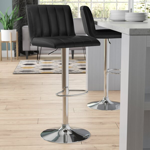 Alandra Adjustable Height Swivel Bar Stool by Wade Logan