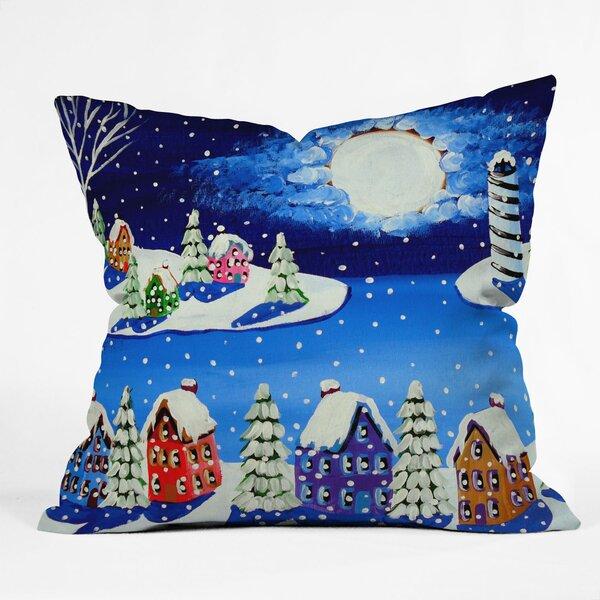 Renie Britenbucher Snowy Shoreline Throw Pillow by Deny Designs