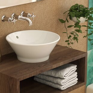 Shopping for Celena Classically Redefined Ceramic Circular Vessel Bathroom Sink with Overflow By DECOLAV