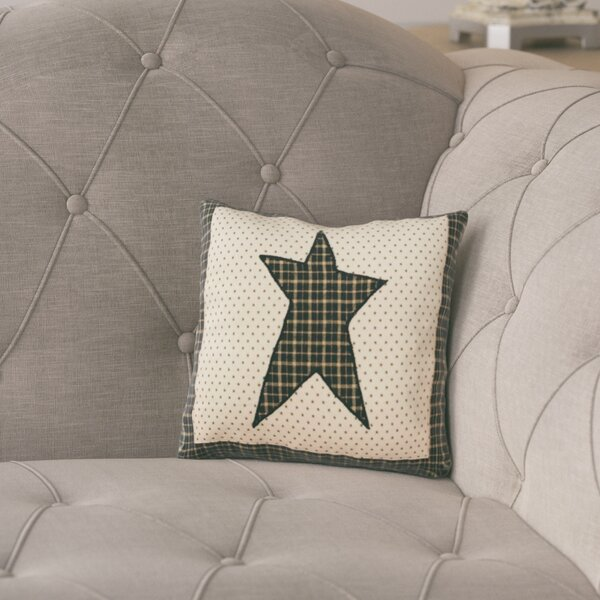 Millicent Star Cotton Throw Pillow by August Grove