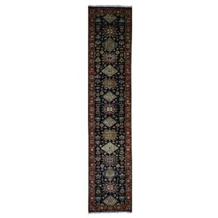 Price comparison One-of-a-Kind Ballentine Hand-Knotted Black Area Rug By Isabelline
