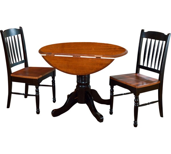 Shelburne 3 Piece Extendable Solid Wood Bistro Set by Laurel Foundry Modern Farmhouse