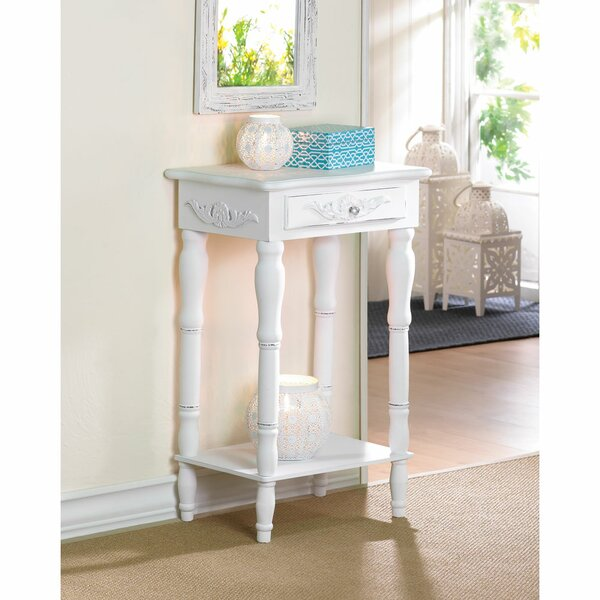 Carved End Table With Storage by Zingz & Thingz