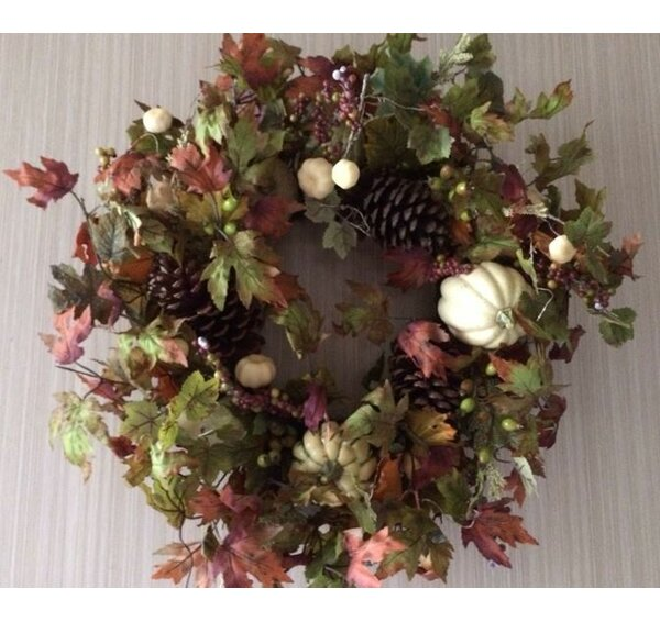 Oak Harvest 26 Silk Wreath by August Grove