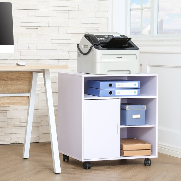 Haybridge Office Wood 1-Drawer Mobile Vertical Filing Cabinet