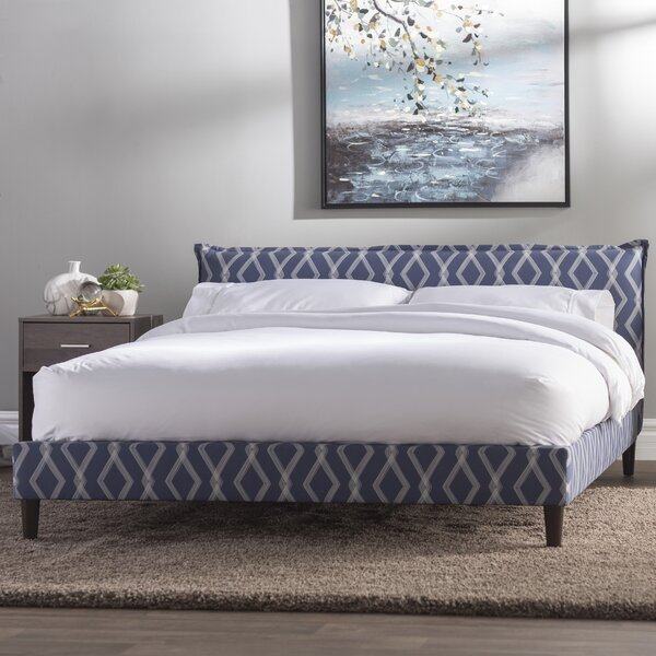 Edford Seamed Crossweave Upholstered Standard Bed by Wrought Studio