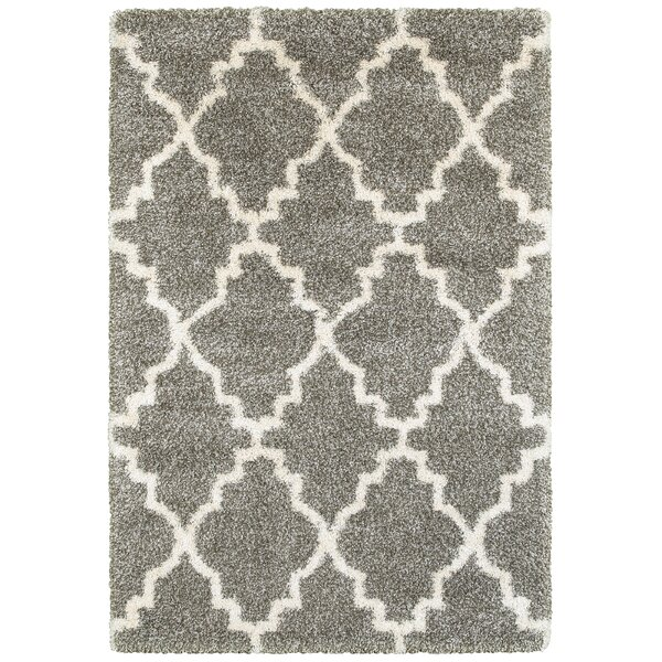 Sayer Gray/Ivory Area Rug by Wrought Studio