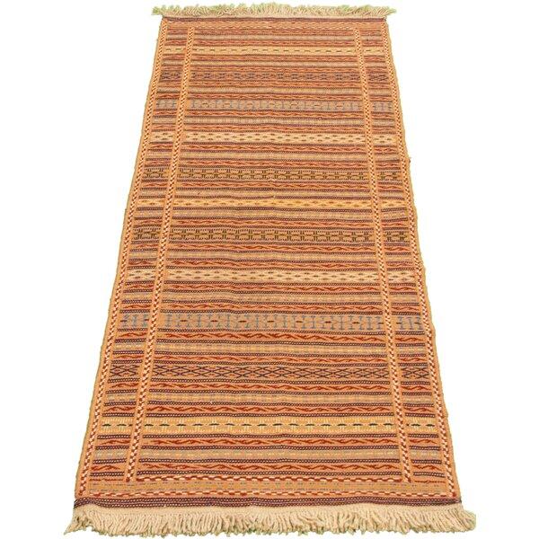 Zeitler Handmade Kilim Wool Tan/Brown Rug