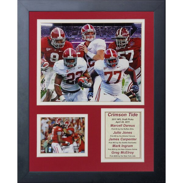 2011 Alabama Crimson Tide National Champions - Draft Picks Framed Memorabilia by Legends Never Die