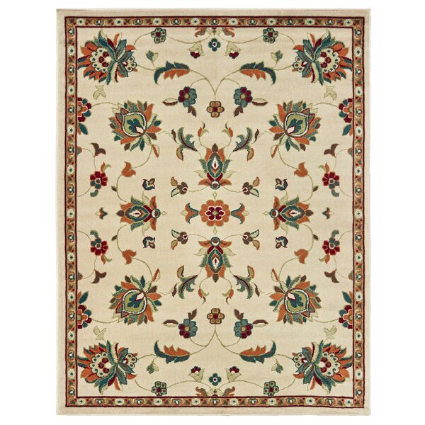 Adah Updated Ivory/Green Area Rug by Millwood Pines