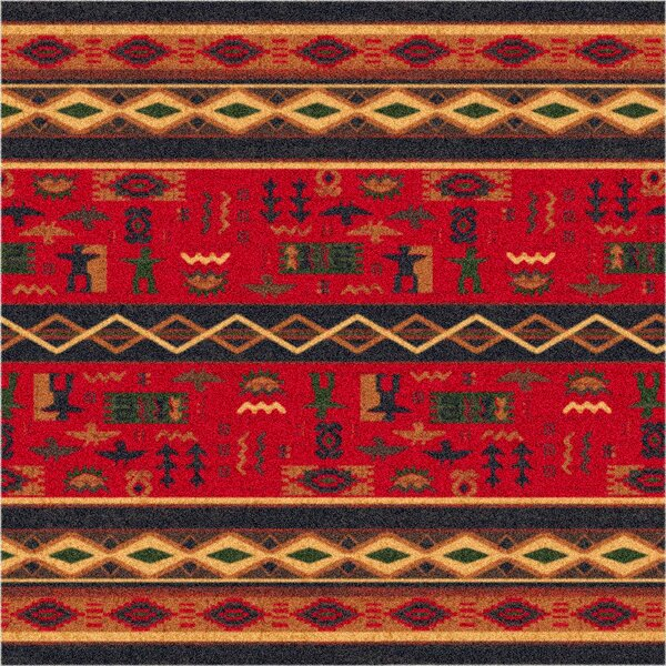 Pastiche Wide Ruins Red Area Rug by Milliken