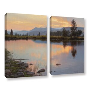 'Tranquil Evening' 2 Piece Painting Print on Wrapped Canvas Set by Loon Peak