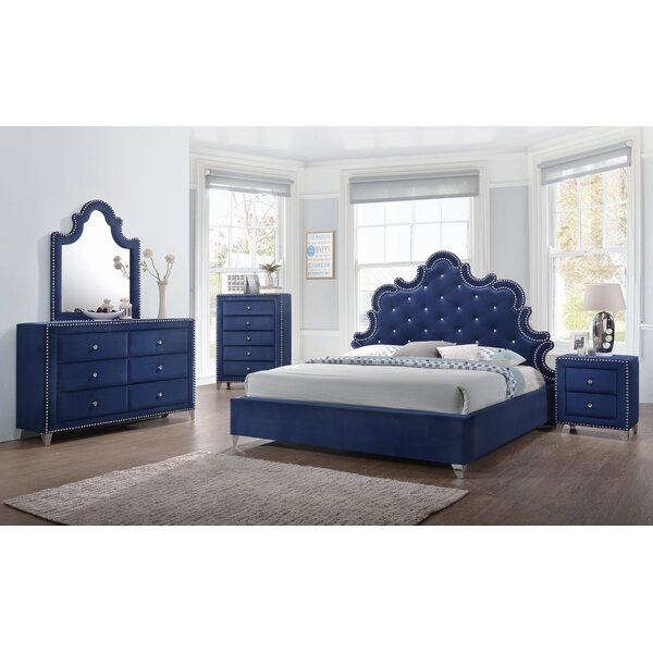 Malone Velvet Platform Configurable Bedroom Set by Rosdorf Park
