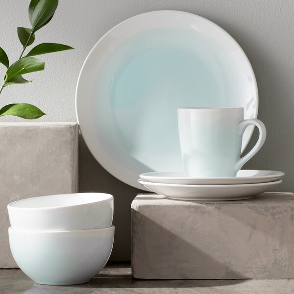 Valia 16 Piece Dinnerware Set, Service for 4 by Mint Pantry