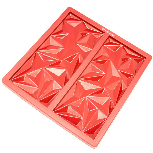 2 Cavity Diamond Silicone Mold Pan by Freshware