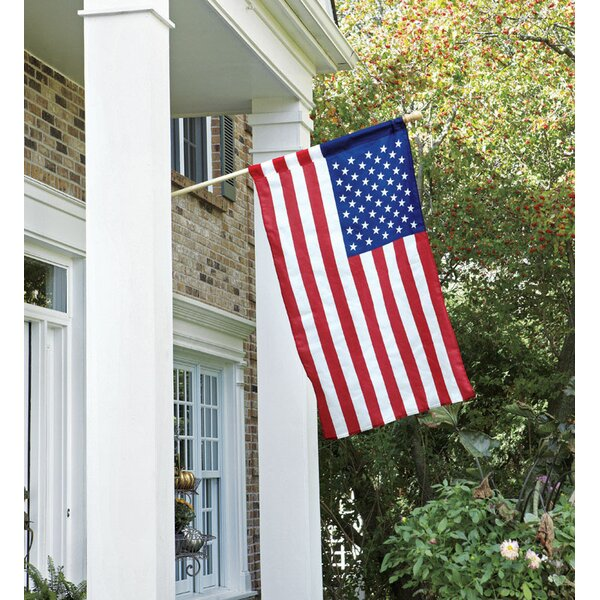 American 2-Sided Nylon 2.5 x 4 ft. Flag Set by Valley Forge Flag