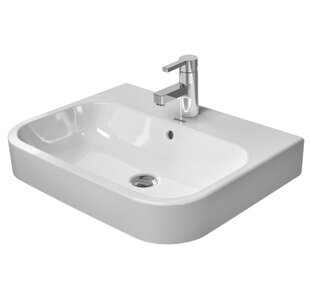 Happy D.2 Washbasin Ceramic 24 Console Bathroom Sink with Overflow Duravit