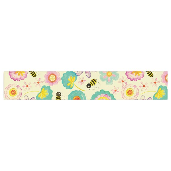 Louise Machado Floral Bee Table Runner by East Urban Home