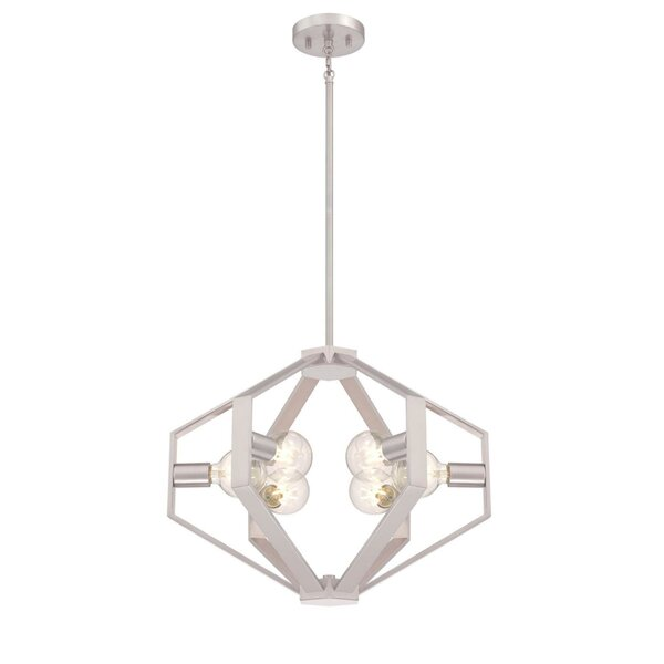 Miltiades 6 - Light Unique / Statement Globe Chandelier by Wrought Studio Wrought Studio