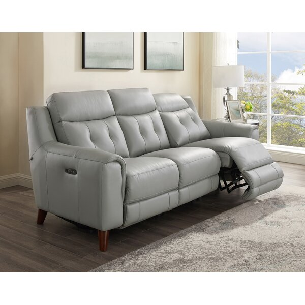 Tortuga Leather Reclining Sofa by Wrought Studio Wrought Studio