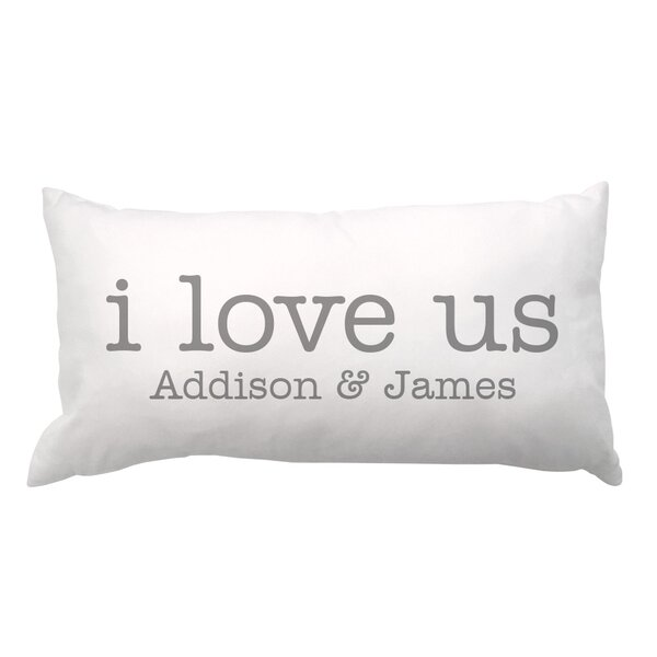 I Love Us with Couple Names Lumbar Pillow by 4 Wooden Shoes
