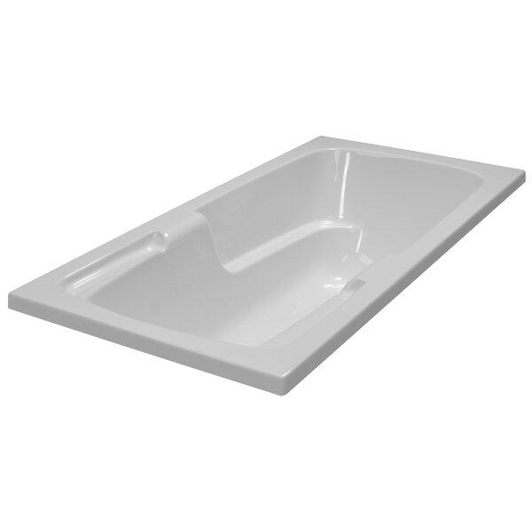 60 x 30 Soaker Arm-Rest Bathtub by American Acrylic