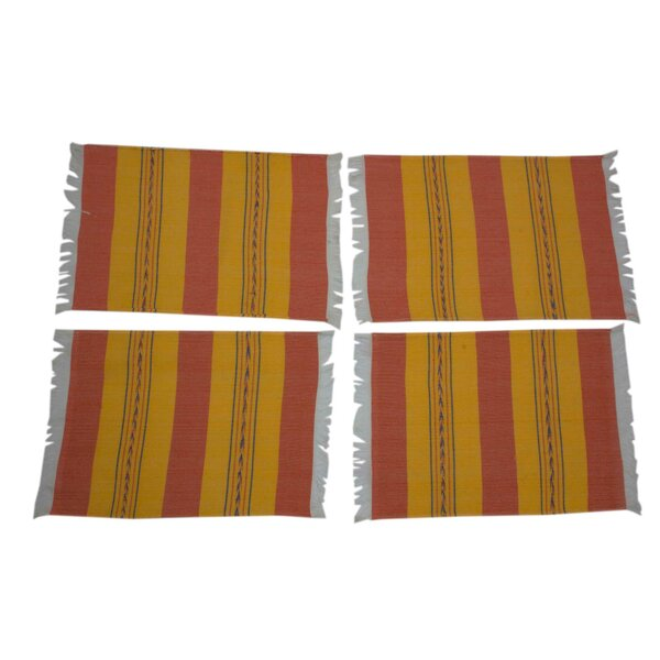 Oaxaca Sunset Zapotec Hand-Loomed Placemat (Set of 4) by Novica