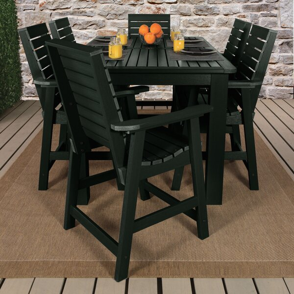 Shondra 7 Piece Rectangular Counter Height Dining Set by Darby Home Co