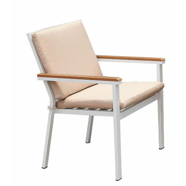 Ovington Aluminum Frame Patio Chair with Cushions (Set of 2) by Latitude Run Latitude Run