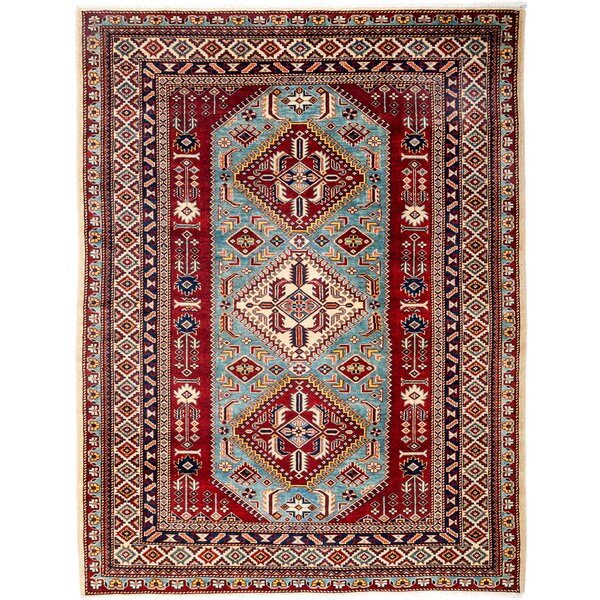 One-of-a-Kind Shirvan Hand-Knotted Red / Blue Area Rug by Solo Rugs