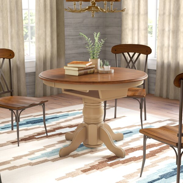 Agrihan Extendable Solid Wood Dining Table by Loon Peak