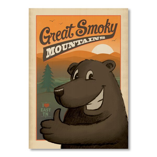 Great Smoky Mountains Bear Vintage Advertisement by East Urban Home